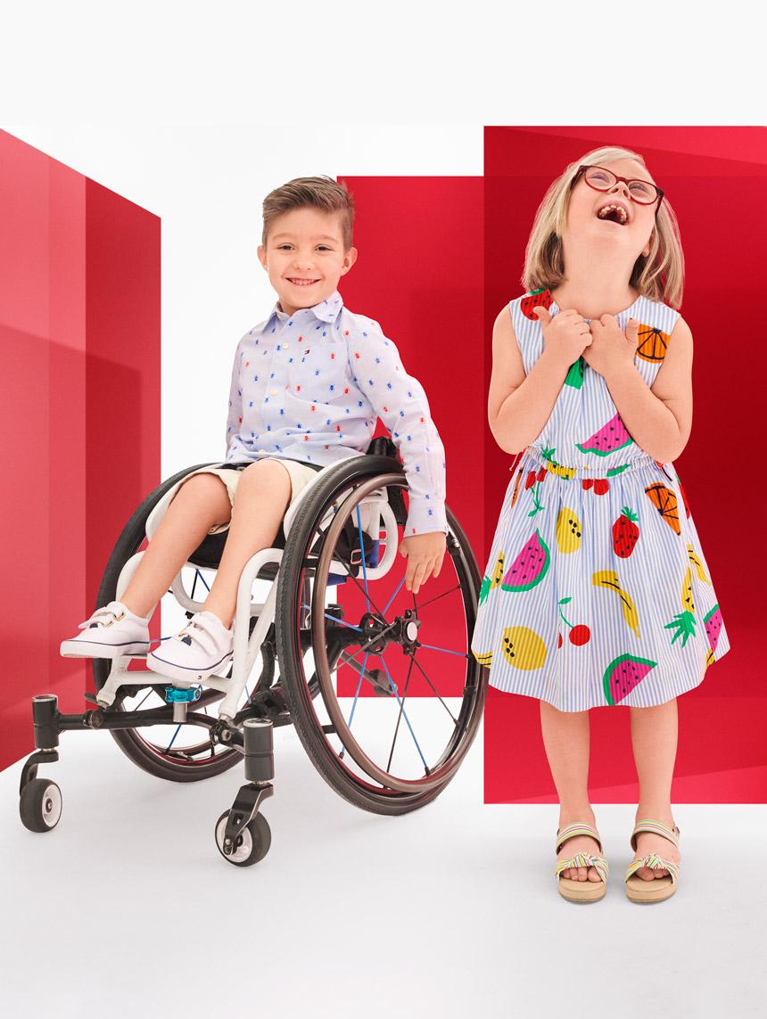 Girl wearing Tommy Adaptive Kids