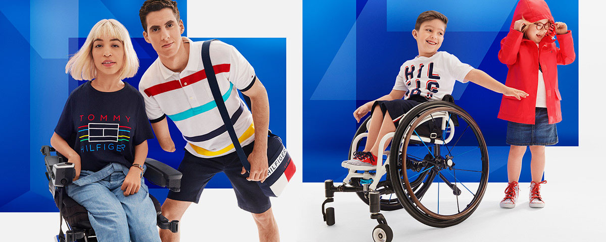 Adults and kids wearing Tommy Hilfger Adaptive