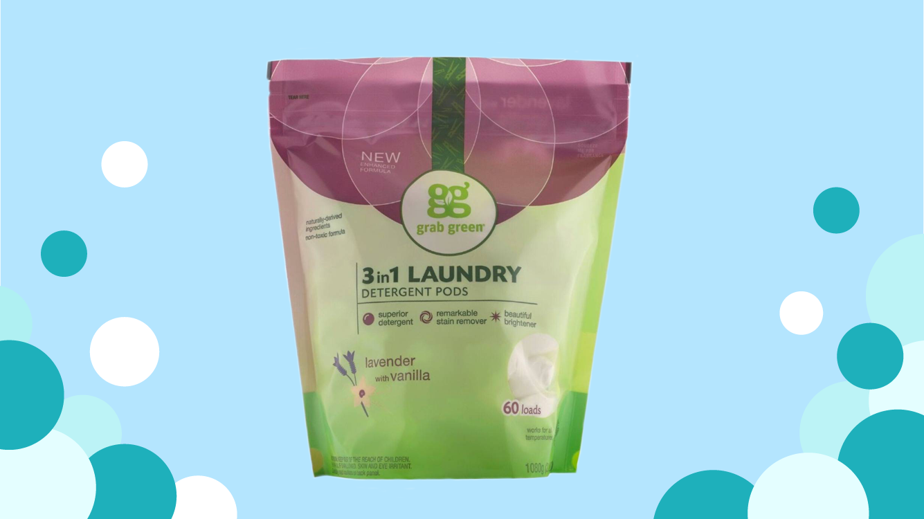 Grab Green Laundry Pods