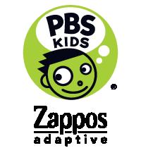 PBS Kids and Zappos Adaptive logo