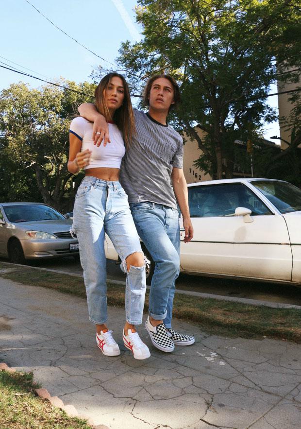 to Wear Jeans + Sneakers