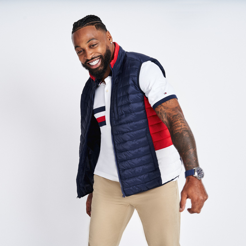 Man wearing Tommy Adaptive Outerwear