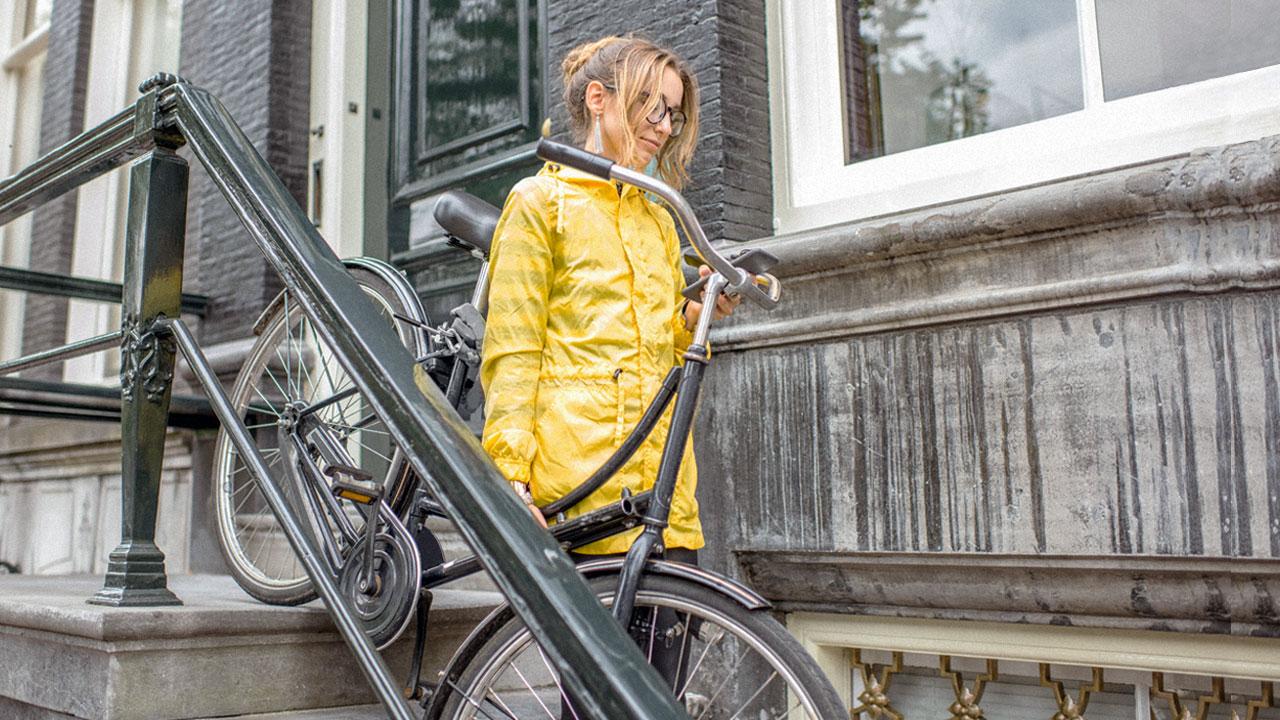 casual rain jacket
