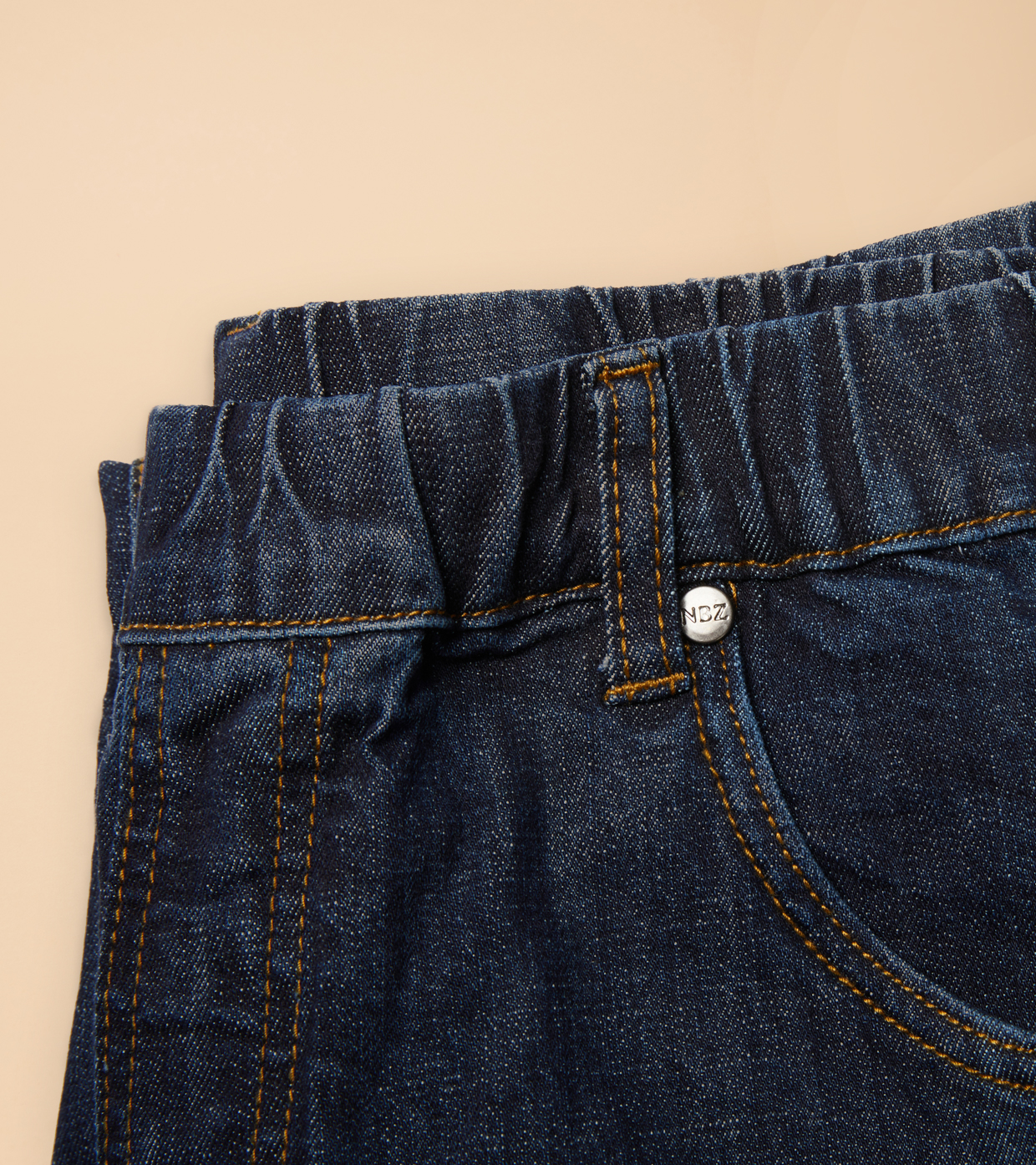 Closeup of NBZ brand jeans