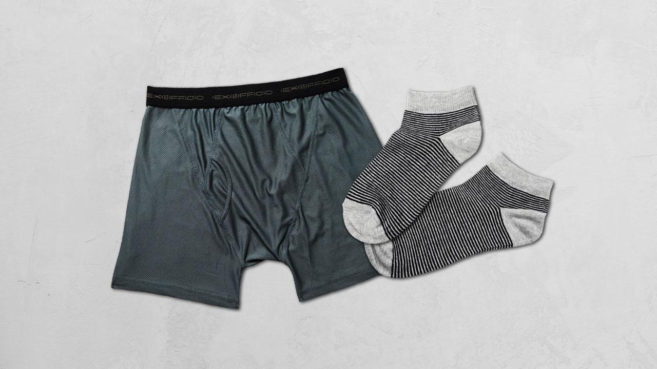 men's briefs and socks